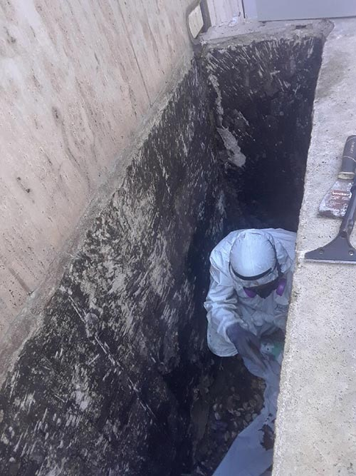 Asbestos Abatement project by Quality Air Controllers