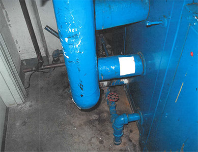 blue pipes lead paint